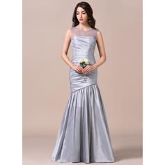 Scoop Neck Trumpet/Mermaid Taffeta Sleeveless Bridesmaid Dresses