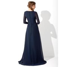 Corte A/Princesa Novio Gasa Glamuroso Vestidos de madrina (008213084)