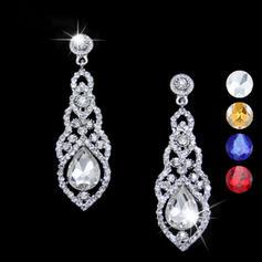 Pendientes Aleación/Diamantes de imitación Perforado Señoras' Romántico Joyas de boda & fiesta