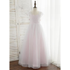 Ball Gown Sweetheart Floor-length Tulle/Lace Sleeveless Flower Girl Dresses