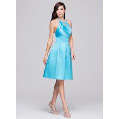 vestidos de dama de honor de dama de honor azul marino y blanco