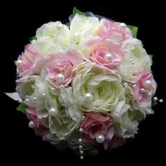 "Bridal Bouquets Round Wedding/Party Satin 8.66""(Approx.22cm) Wedding Flowers"