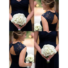 midnight blue long sleeve bridesmaid dresses