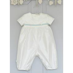 Satiné Col rond Tenues de baptême bébé garçon avec Manches courtes (2001217993)