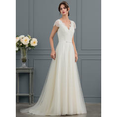 tall thin wedding dresses