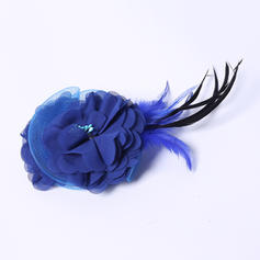 """Flowers & Feathers Wedding/Special Occasion/Party Feather/Silk Flower 5.91""""(Approx.15cm) 3.15""""(Approx.8cm) Headpieces"""