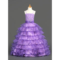 Organza/Satin Ball Gown Ruffles/Beading/Sequins Glamorous Flower Girl Dresses