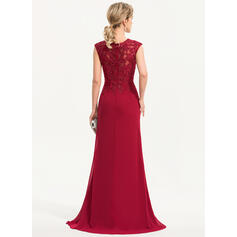 red lace midi evening dresses