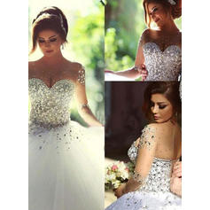 Luxurious Ball-Gown With Tulle Wedding Dresses (002144587)