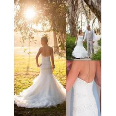 Beading Sweetheart Trumpet/Mermaid - Tulle Wedding Dresses
