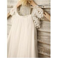 peach chiffon flower girl dresses