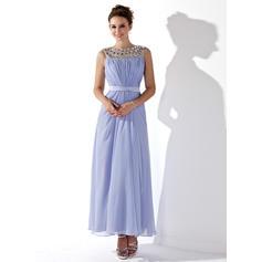 Chiffon Glamorous A-Line/Princess Ankle-Length Prom Dresses (018021121)