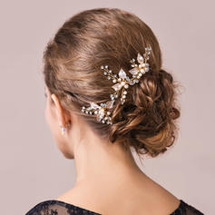 """Hairpins Wedding/Special Occasion/Party Imitation Pearls/Czech Stones 2.17""""(Approx.5.5cm) 1.77""""(Approx.4.5cm) Headpieces"""