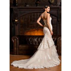plus størrelse langermet brudekjoler