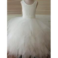 long sleeve lace flower girl dresses