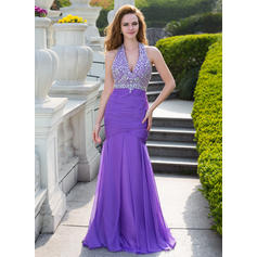 Chiffon Newest Trumpet/Mermaid Floor-Length Prom Dresses (018210466)