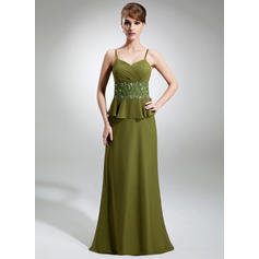 Princesa Hasta el suelo Corte A/Princesa Gasa Vestidos de madrina (008211155)