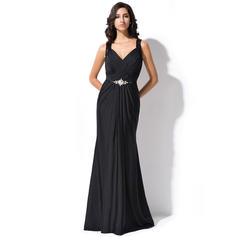 Beautiful Lace Jersey Trumpet/Mermaid Zipper Up Evening Dresses (017052715)