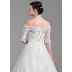 simple long white wedding dresses