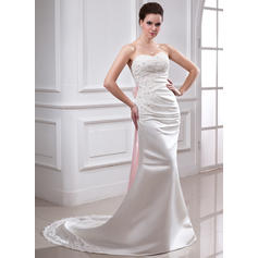 Chapel Train Sleeveless Trumpet/Mermaid - Satin Wedding Dresses