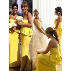 Bridesmaid Dresses Sweetheart Satin Sheath/Column Sleeveless Floor-Length