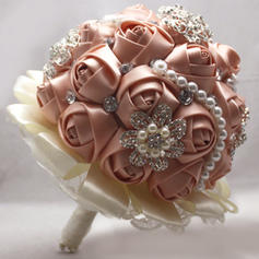 "Bridal Bouquets Round Wedding Satin 10.24""(Approx.26cm) Wedding Flowers"