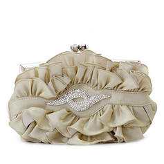 Clutches Wedding/Ceremony & Party/Casual & Shopping Silk Kiss lock closure Gorgeous Clutches & Evening Bags
