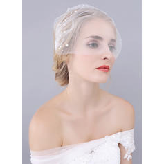 Blusher Veils Tulle One-tier Classic With Cut Edge Wedding Veils