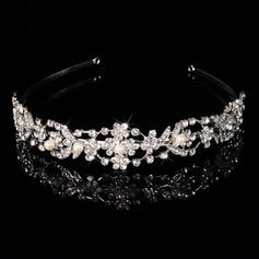 "Tiaras Wedding/Special Occasion/Casual/Outdoor/Party Rhinestone/Alloy/Imitation Pearls 6.3""(Approx.16cm) 1.18""(Approx.3cm) Headpieces"