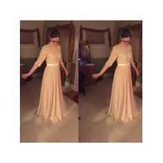 Corte A/Princesa Escote redondo Gasa Glamuroso Vestidos de madrina (008212732)