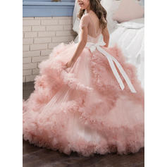 long chiffon flower girl dresses
