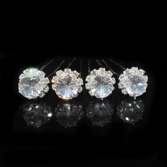 Lovely Alloy/Czech Stones Hairpins (Set of 4)