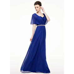 Corte A/Princesa Gasa Novísimo Novio Vestidos de madrina (008210623)