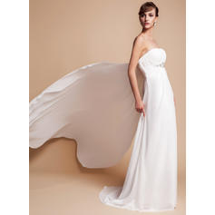 tea length simple wedding dresses
