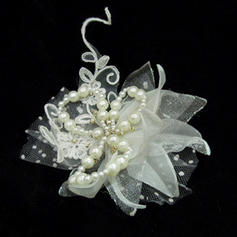 "Flowers & Feathers Wedding/Special Occasion Artificial Silk/Tulle 5.91""(Approx.15cm) 3.15""(Approx.8cm) Headpieces"