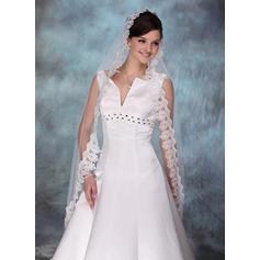 Waltz Bridal Veils Tulle One-tier Drop Veil/Mantilla With Lace Applique Edge Wedding Veils