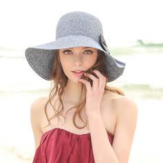 Damer' Gorgeous/Elegant Flätad Sugrör Diskett Hat