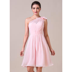 One-Shoulder A-Line/Princess Chiffon Sleeveless Bridesmaid Dresses