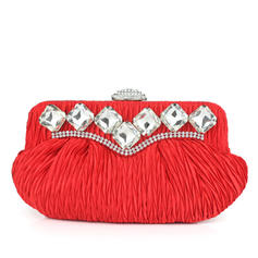 Clutches Wedding/Ceremony & Party Silk Clip Closure Charming Clutches & Evening Bags