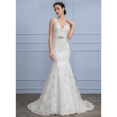 vestidos de novia de manga satén