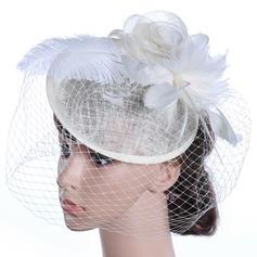 Damer' Vackra Och/Gorgeous/Mode/Särskilda Batist med Fjäder Diskett Hat