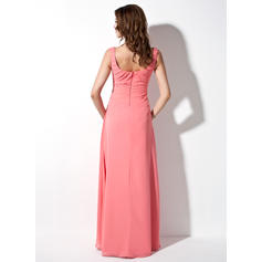 aubergine long bridesmaid dresses