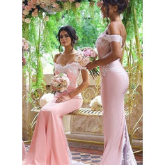 Trumpet/Mermaid Off-the-Shoulder - Stretch Crepe Bridesmaid Dresses