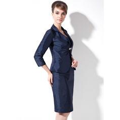 Forme Fourreau Amoureux Taffeta Glamour Robes mère de la mariée (008213097)