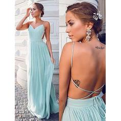 Elegant Chiffon Prom Dresses A-Line/Princess Floor-Length V-neck Sleeveless