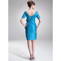 Elegante Tafetán Fuera del hombro Vestido tubo Vestidos de madrina (008006275)
