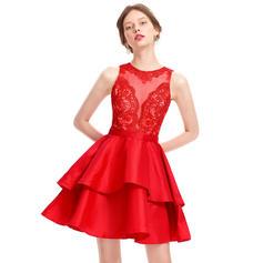 A-Line/Princess Short/Mini Taffeta Homecoming Dresses
