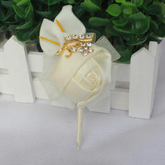 "Wrist Corsage/Boutonniere Free-Form Wedding/Party Satin 3.94""(Approx.10cm) Wedding Flowers"