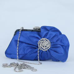 Clutches/Wristlets Wedding/Ceremony & Party/Casual & Shopping Crystal/ Rhinestone Clip Closure Attractive Clutches & Evening Bags