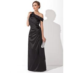 Chic Off-the-Shoulder Sheath/Column Charmeuse Evening Dresses (017201167)